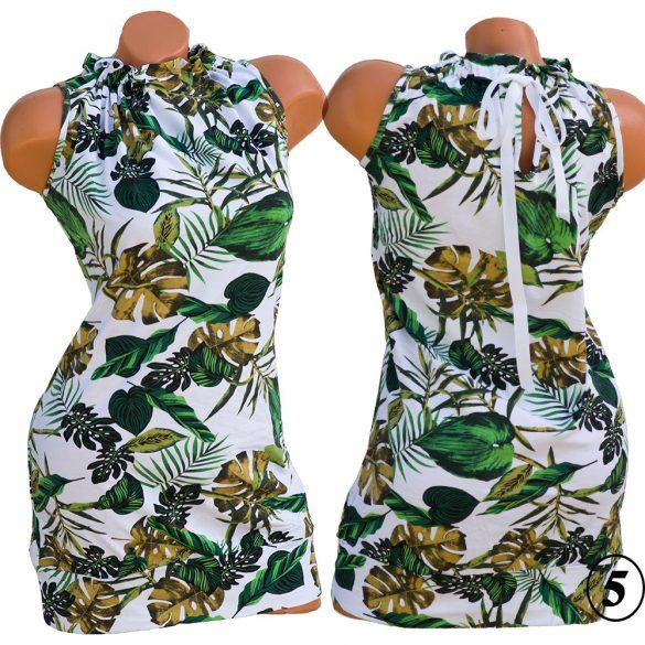 Virágmintás szalagos ruha