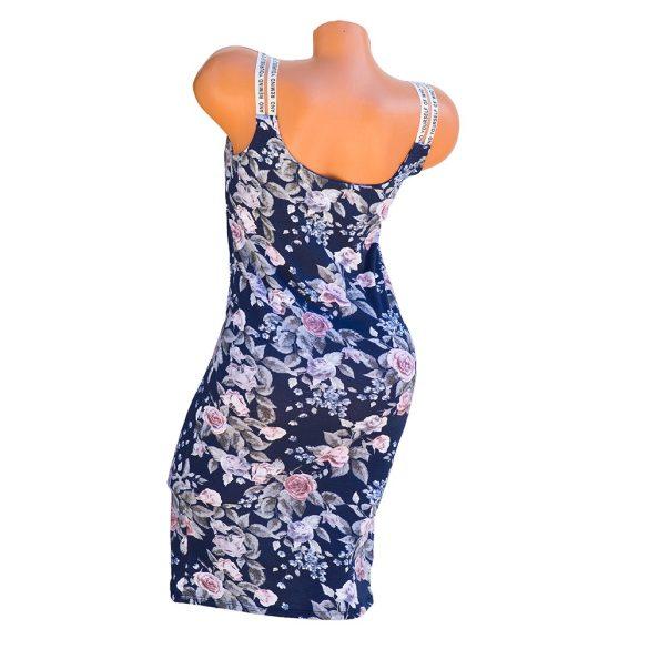 Vállán feliratos mintás ruha