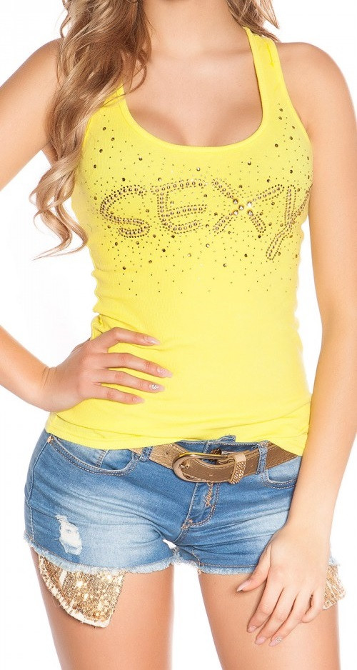67397bbc01 Sexy feliratos szegecses top - Venus fashion női ruha webáruház ...