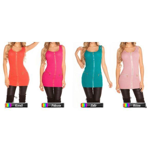 Cipzáras ujjatlan ruha több színben