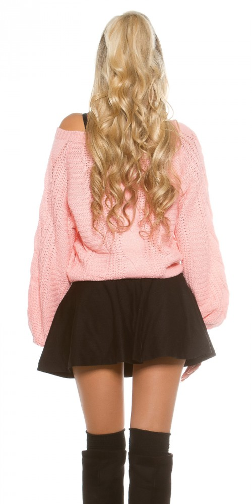 60a021ffe6 Csavartmintás kötött pulóver - Venus fashion női ruha webáruház ...