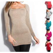 Boleró stílusú csillámos pulóver